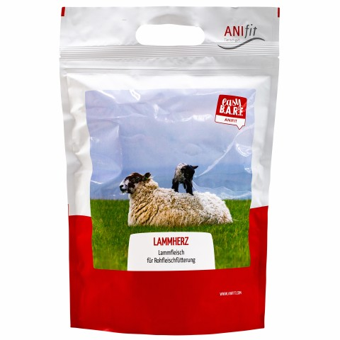 Easy Barf Lamb Hearts (Lammherz) 350g (1 Piece)